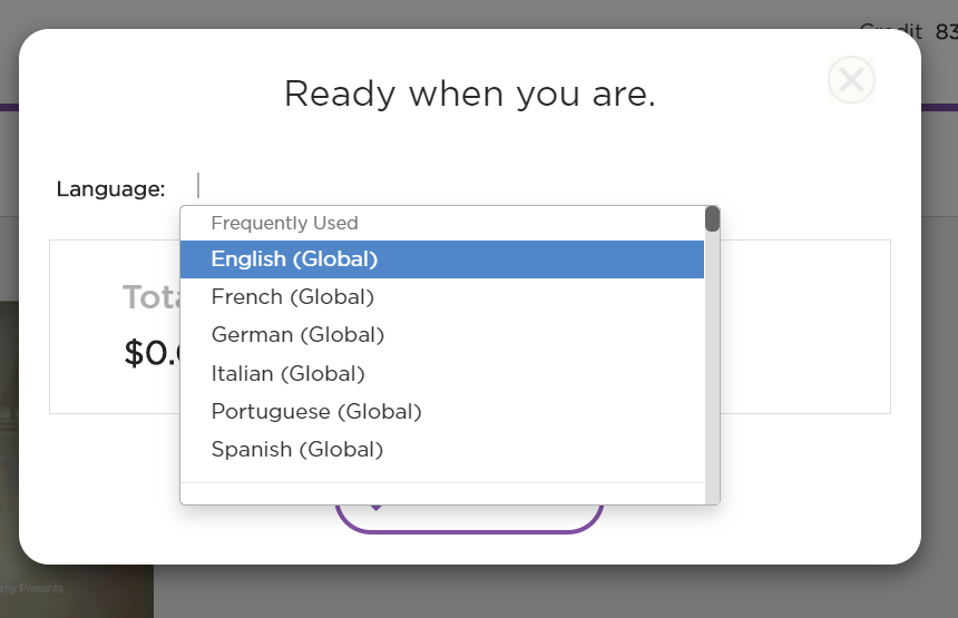Select the original language