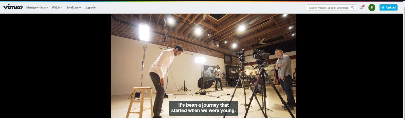 Your caption/subtitle is now live